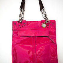 Rad Lanvin Hot Pink Chained Handle Pvc Tote Bag (Pen Marks on Bag) Photo