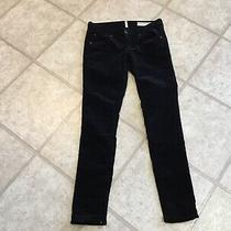 Rag and Bone Black Velvet Jeans With Zippers Size 25 Photo
