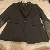 Rag and Bone Bnwot Blazer Jacket Sport Coat Wool Leathervtrim Black Size 6 8 Photo