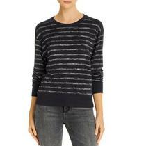 Rag & Bone Avryl Striped Sweater Xs Navy Black Crew Neck Long Sleeve Womens New Photo