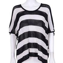 Rag & Bone Black & White Striped Oversized Pullover Sweater Top Xs/s Photo