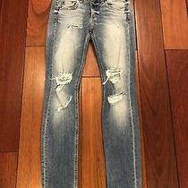 Rag & Bone Blue Ripped Dre Jeans Size 23 Photo