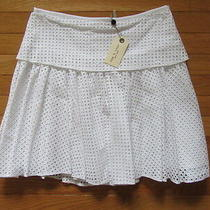 Rag & Bone Bright White Lakewood Cotton Eyelet Skirt Nwt 395 0 Photo