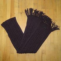 Rag & Bone Burgundy Chunky Cable Knit Wool Scarf Photo