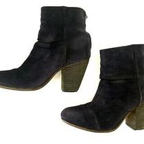 Rag & Bone Classic Newbury Booties Navy Blue Suede Size 38 8 Ankle Boots Photo