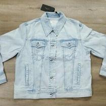 Rag & Bone Dean Women's Oversized Blue Denim Jacket Size Large Rrp 499 Photo