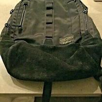 Rag & Bone Derby Backpack Bag Canvas Suede Black Photo