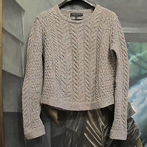 Rag & Bone Grey Cable Knit Herringbone Sweater Photo