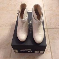 Rag & Bone Harrow Ankle Boots Size 35 Us 5 White Cream Croc Leather  Display Photo