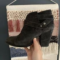 Rag & Boneharrow Suede Bootie. Sz 8.5 Gray Black Photo