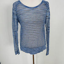 Rag & Bone /jean Blue Thin See Through Sweater Size Small Photo