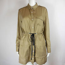 Rag & Bone - Khaki Drawstring Shirt Dress - Size M Medium - Nice Photo
