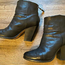 Rag & Bone Newbury Black Leather Ankle Boots Size 38.5 Photo