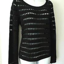 Rag & Bone Sz S Crochet Knit Top Black Photo