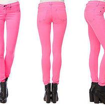 Rag & Bone the Legging Jean Neon Pink Size 29 Skinny Leg Photo