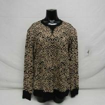 Rag & Bone Women's Us M Printed Crew Neck Sweater Brown/black Pre-Owned Photo