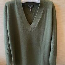 Rag & Bone Womens Cashmere v-Neck Sweater - Green Xs Photo