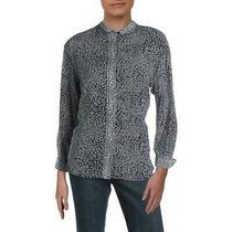 Rag & Bone Womens Christie Black Silk Printed Button-Down Top Shirt L Bhfo 3760 Photo