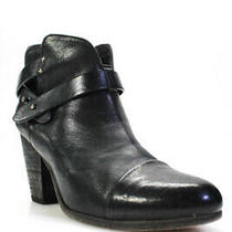 Rag & Bone Womens Leather Cap Toe Ankle Booties Black Size 38.5 8.5 Photo