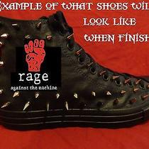 Rage Against the Machine Custom Studded Converse Shirt Sneakers Shoes W Spikes Photo