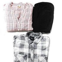 Rails Joie Splendid Womens Plaid Top Black Pink Size X Small Medium Small Lot 3 Photo
