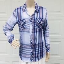 Rails Women S Small Plaid White Blush Purple Button Down Long Sleeve Shirt Tunic Photo