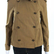 Rain-O-Shine Womens Double Breasted Button Up Collar Jacket Beige Cotton Size Xs Photo