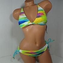 Raisins Santa Baraba Top & Sweet Pea Pant Bikini Set Multi-Color Size Medium  Photo
