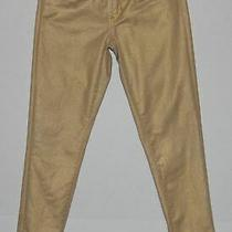 Ralph Lauren 342 Black Label Gold Metallic Denim Jeans Size 28 Photo