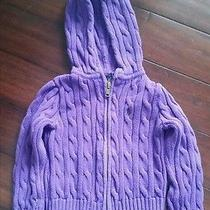 Ralph Lauren 3t Purple Cable Knit Sweater Photo