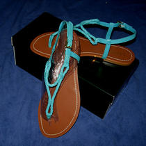 Ralph Laurenalexa Sandals10 Mednewpool Bluekidskin Leatherso Cute Photo