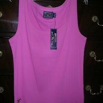 Ralph Lauren American Living Women's Tank Top Size L Maui Pink 100% Cotton Nwt Photo
