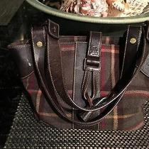 Ralph Lauren Authentic Leather & Wool Ladies Purse - Nice Photo