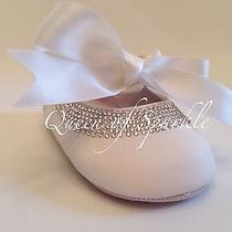 Ralph Lauren Baby Christening Baptism Wedding Shoes Made With Swarovski Crystals Photo