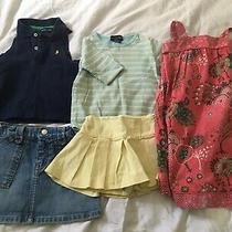 Ralph Lauren Baby Gap Lot of 5 Items Dress Shirts Denim Golf Skirt 3t Photo