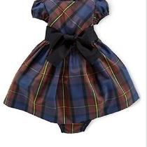 Ralph Lauren Baby Girl Taffeta Tartan Dress Nwt 24m M1225 Photo