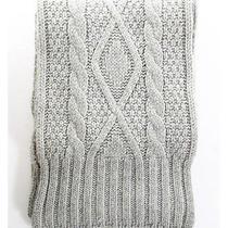 Ralph Lauren Beige Wool Cable Knit Scarf Photo