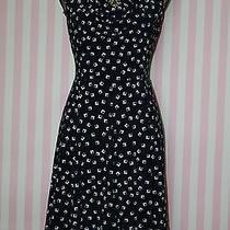 Ralph Lauren Black and White Sleeveless Knee-Length Wear to Work Dress 10p Photo