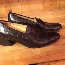 Ralph Lauren Black Croc Loafers  sz.7b Photo