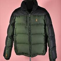 Ralph Lauren Black & Forest Green Rl250 Down Puffer Jacket Size M Photo