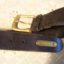 Ralph Lauren Black Genuine Leather Belt Bras Buckle Men's Sz 28-32 / 2223850-001 Photo