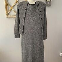 Ralph Lauren Black Label Cashmere Sweater Dress Set Suit Size S Herringbone Photo