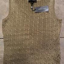 Ralph Lauren Black Label Gold Knit Vest Size Large Photo