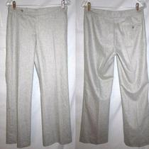 Ralph Lauren Black Label Heather Light Gray Tab Front Trousers Dress Pants M Photo
