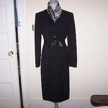 Ralph Lauren Black Long Fitted Riding Jacket    95% Wool %5 Other Photo