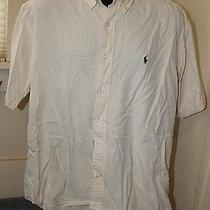 Ralph Lauren - Blake - Men's Shirt - Large (L) - Cream - Silk / Cotton Photo