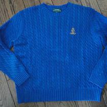 Ralph Lauren Blue Cable Knit Sweater     Size Large Photo