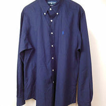 Ralph Lauren Blue Cotton Button Down Shirt Sz Xl Photo
