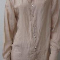 Ralph Lauren Blue Label 100% Silk Blush/mauve Point Collar Shirt Size 6 Photo