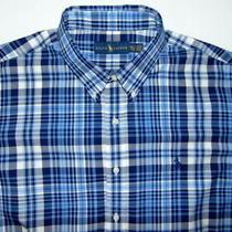 Ralph Lauren Blue Plaid Long Sleeve Button Down Shirt Mens Size Xxl Photo